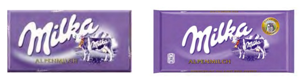 packaging Milka